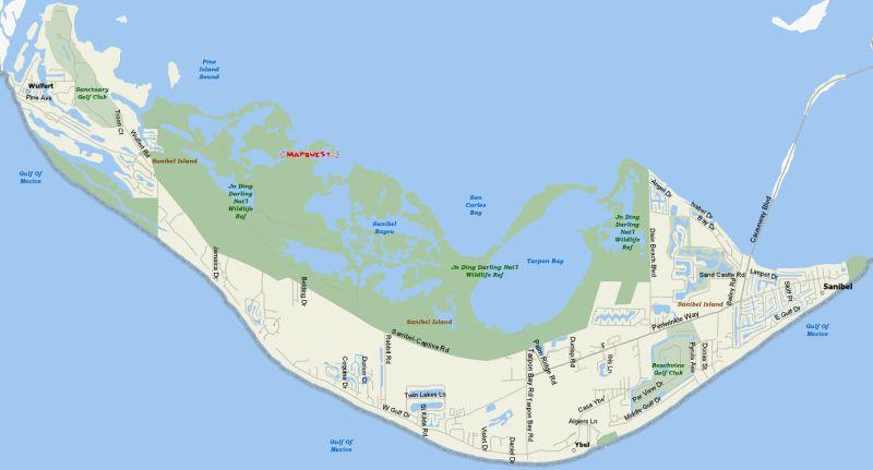 Sanibel Island Map: Manhattan Island... Less Than 1 Mile From Sanibel Island